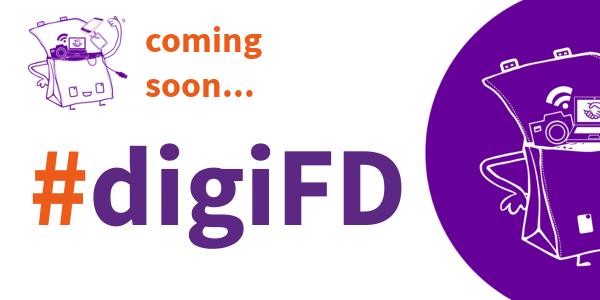 Logo Schwerpunkt #digiFD: Lene Kieberl, CC-BY