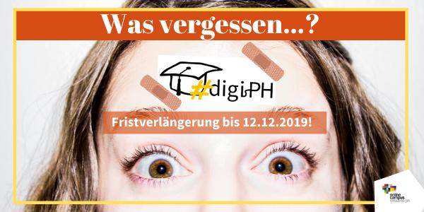 Fristverlängerung beim Call #digiPH3: Reichen Sie noch bis 12.12.2019 Ihre eLecture ein!